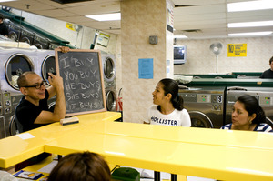 Hector Canonge's The Inwood Laundromat Language Institute
